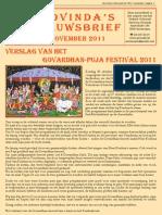 Govinda's_e-Nieuwsbrief_2011_11