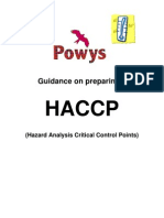 Guidance on Preparing HACCP Plans