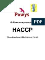 Guidance on Preparing HACCP Plans