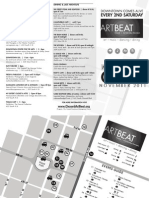 Art Beat Map and Event Guide November 11