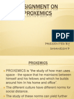 Assignment on Proxemics