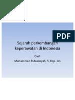 Sejarah an Keperawatan Di Indonesia
