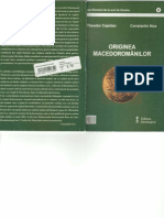 Th. Capidan , C. Noe - ORIGINEA MACEDOROMÂNILOR
