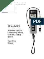 Ysi 85 Operations Manual