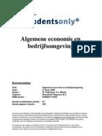 Algemene Economie en Bedrijfsomgeving-druk 2-9789001713782
