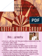A Presentation on Kumar Mangalam Birla as a St
