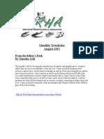 WRHA Newsletter August 2011