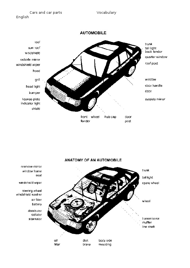 8341883 Car Parts Picture Dictionary
