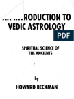 An Intro. to Vedic Astro. by H. Beckman