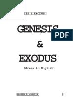 Genesis & Exodus (Greek to English)