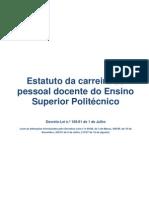 02 Estatuto Docente Politecnico DL_185!81!1_JULHO