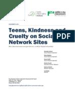 PIP Teens Kindness Cruelty SNS Report Nov 2011 FINAL 110711
