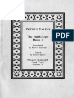 Vettius Valens - The Anthology, Book I