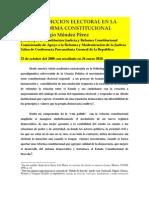 JURISDICCION ELECTORAL EN REFORMA CONSTITUCIONAL. TRIBUNAL SUPERIOR ELECTORAL. Lic. Jorge Eligio Mèndez