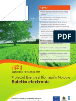 Energie și Biomasă în Republica Moldova Buletin Electronic
