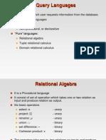 Query Languages (basic operator)