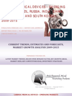 Cardiac Medical Devices - Emerging Markets BRICSS, 2009-2015