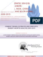 Cardiac Prosthetic Devices - Emerging Markets BRICSS, 2009-2015
