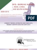 Coronary Stents - Emerging Markets BRICSS, 2009-2015