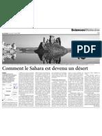 Comment Le Sahara Est Devenu Un Desert