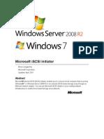 iSCSI Initiator User's Guide for Windows 7