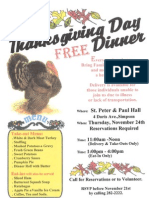 111111 - Free Thanksgiving Dinner Flyer