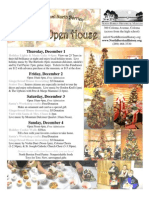 North Berrien Holiday Open House Flyer 2011