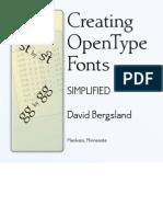 Creating OpenType Fonts