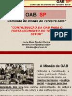 Contribuição Da OAB Para o Fortalecimento Do Terceiro Setor