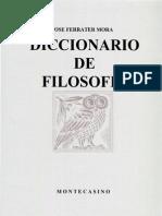 Ferrater Mora - Dicc de Filosofia P