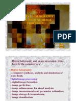 Digital Holography Ad Digital Image Processing