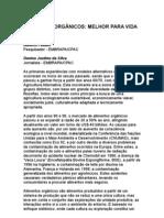 Alberto Feiden - Denise Justino - Alimentos Orgânicos Melhor Para Vida - Nutrição - Nutrientes