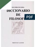 Ferrater Mora - Dicc de Filosofia U