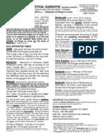 Feasts 2012 PDF