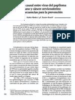 Relacion Causal Entre Virus Del Papiloma Humano Y Cancer Cervicouterino