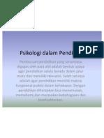 Psikologi dalam Pendidikan