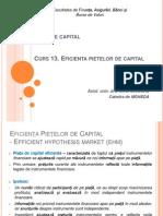Curs 13 Eficienta Pietelor de Capital Piete de Capital