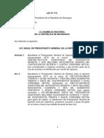 Ley Anual Presupuesto General de la República 2010