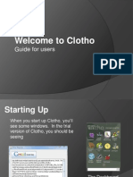 Clotho for Users