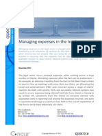 Managing expenses in teh legal sector