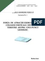 Bazele Geodeziei Fizice II - Lucrarea Nr. 1