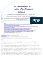 The Restoration of the Kingdom to Israel