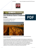 How Goldman Sachs Created the Food Crisis by Frederick Kaufman Foreign Policy
