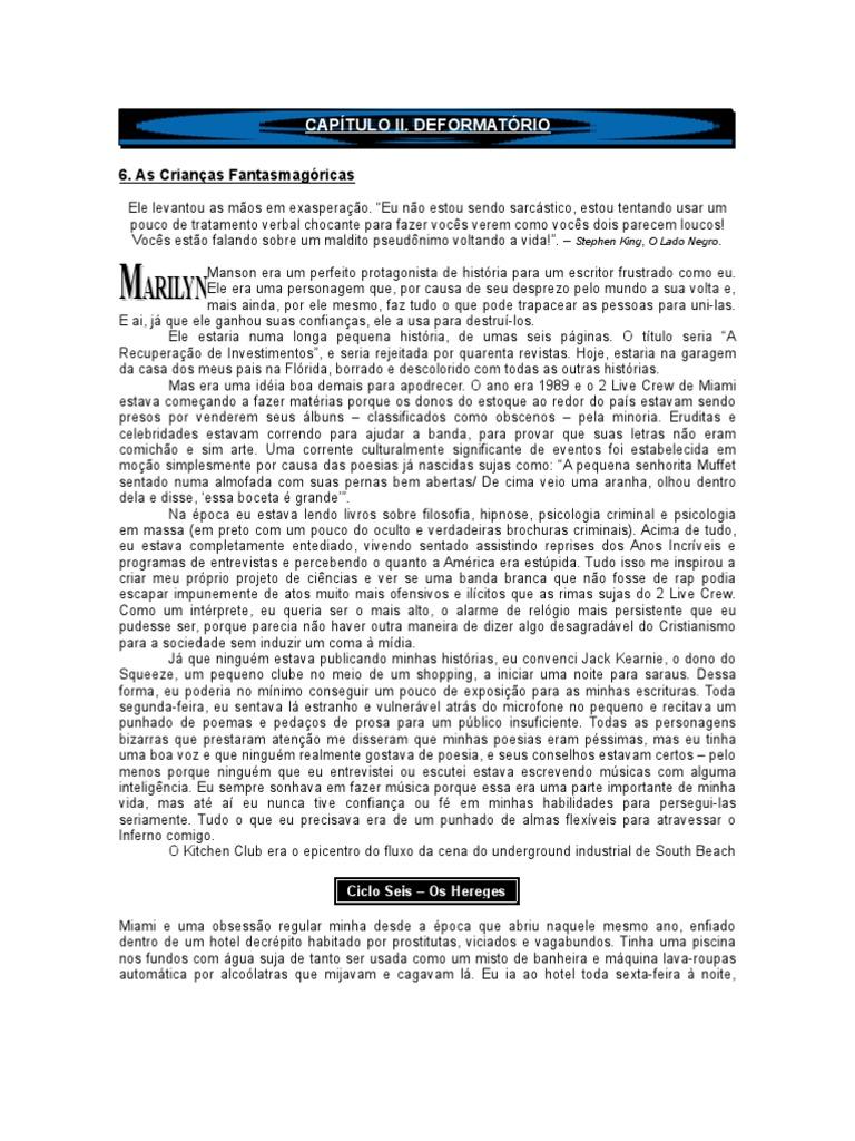 230993aeb59dd Marilyn Manson - Autobiografia II