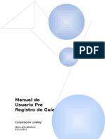 Manual Proveedor Pre Registro de Guías Corporación Lindley