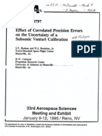 AIAA 95-0797 Effect of Correlated Precision Errors on the Uncertainty of a Subsonic Venturi Calibration
