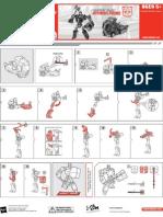 TFA Cybertron Mode Optimus Prime Instructions