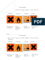 Hazard Symbols Work Sheet
