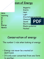 Revision of Energy