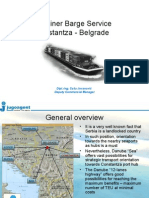 Container Barge Service Constanta - Belgrade (for Novi Sad Congress)_Jugoagent